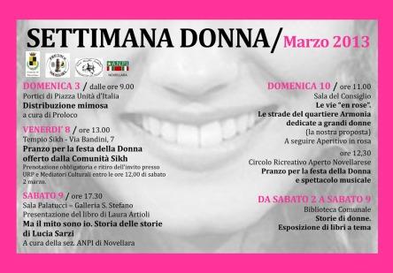 settimana donna 2013