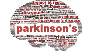 CT2BBD Parkinson's disease symbol isolated on white