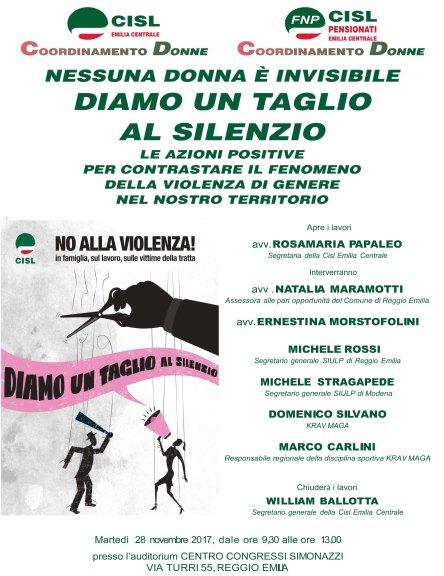 28 novembre a Reggio- Nessuna donna è invisibile